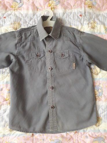 детская клетчатая рубашка в Кыргызстан: Индийская рубашка фирменая класика размер 34 на 3-4 годика цена