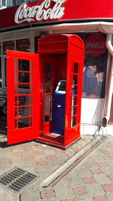 аренда торгово офисного помещения в Кыргызстан: Английская телефонная будка(без терминала) аренда(посуточно)