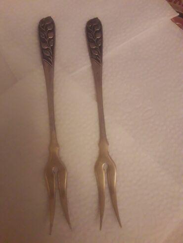 2 серебряные вилочки для лимона