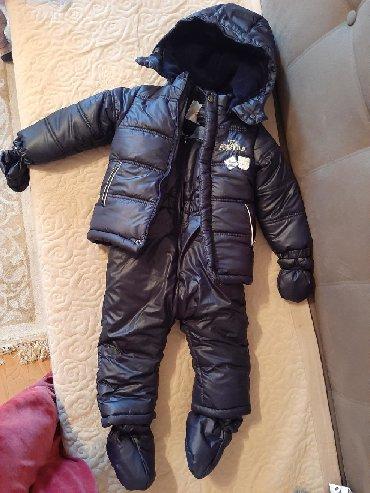 детские куртки комбинезоны в Кыргызстан: Продаю новый детский комбинезон с курткой (Турция) на 2 года, ростовка