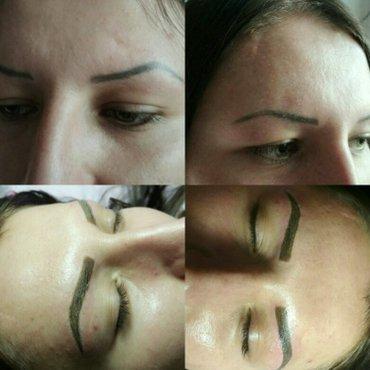 Татуаж бровей-волосковый,теневая. Глаза стрелки,растушевка. Губы  конт в Бишкек