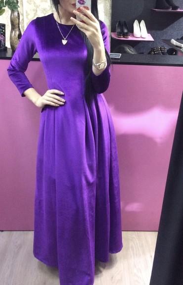 платье бархатное в Кыргызстан: Платье бархатное. Качество отличное,состояние идеальное. Надевали один
