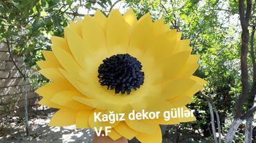 Əl işləri - Azərbaycan: Özəl günlərinizə gözəlliklər qatın. Günəbaxan kağız dekor gülü diametr