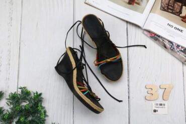 Мужская обувь - Украина: Босоножки женские, черные/цветные, размер 37 см