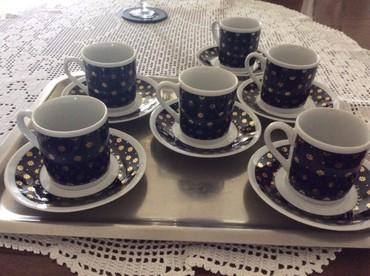 Set od 5 šoljica za kafu ( šesta je okrznuta, vidi se na slici) - Nis