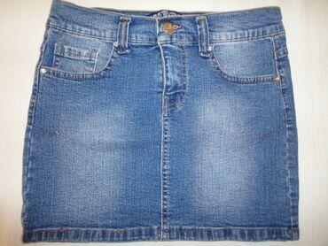 Teksas suknja - Srbija: Teksas suknja WEST INDUSTRY vel 30. Rastegljiva je, materijal je 100%
