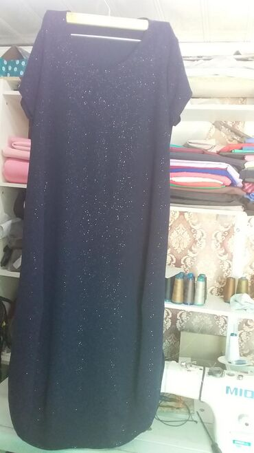 Женская одежда - Джал: Новое. Платье темно синее ( стиль Бохо) размер 52. За700 сом.