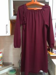 бордовое платье трикотаж в Кыргызстан: Платье трикотаж, «КРЕСТЬЯНКА», не ношеноецвет бордовый 46-48