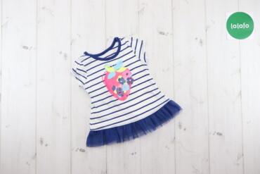 Топы и рубашки - Синий - Киев: Дитяча туніка з полуничкою, 6 місяців    Колір смугастий, синій з біли