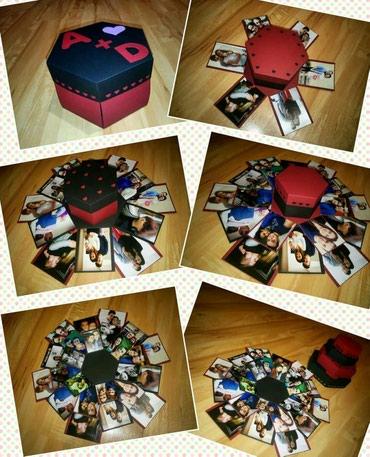 Šestougaona kutija sa slikama - Bor