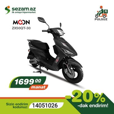 Moon Moped ZX50QT-30 Yalniz Nağd satış. Kredit Yoxdur !!!!!!!  1699₼