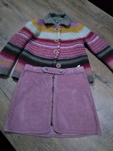 Dečija odeća i obuća - Nova Pazova: Suknja Zara kids vel 8, džemper Benetton vel 6/7. Cena suknje je