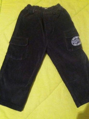 Novo decije teget somotske pantalone za uzrast od 2-3 godine kupljene - Vrnjacka Banja