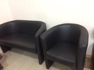 Продаю новый кожанный 2х местный диван, производство Украина. в Бишкек