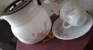 6 çaşqa 6 nelbeki Bir çaynik. Çay servizi tezedir işlenmeyib qiymet 28
