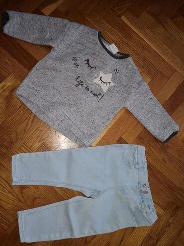 Dečije Farmerke i Pantalone | Crvenka: Komplet Zara, vel. 9-12 mes