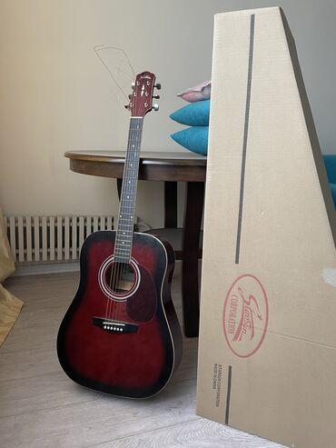 гитары бишкек in Кыргызстан   АВТОЗАПЧАСТИ: Продаю новую акустическую Гитару Starsun (6 струнную)