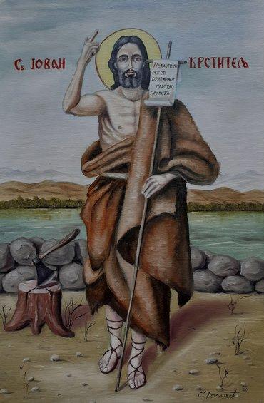 Slike | Lebane: Sveti Jovan Ulje na platnu, blind ram 60x40, sliku kupujete direktno