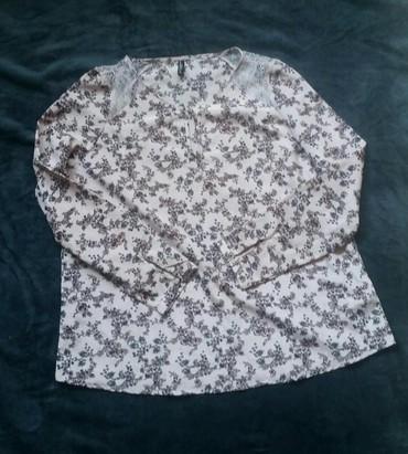 Puder roze floral print siroka bluza, kao nova. - Ruma