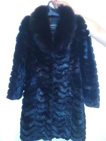 Женская одежда - Кок-Ой: Продаю шуба/кролик=р46-48/-5000с. Пальто/кашемир мех