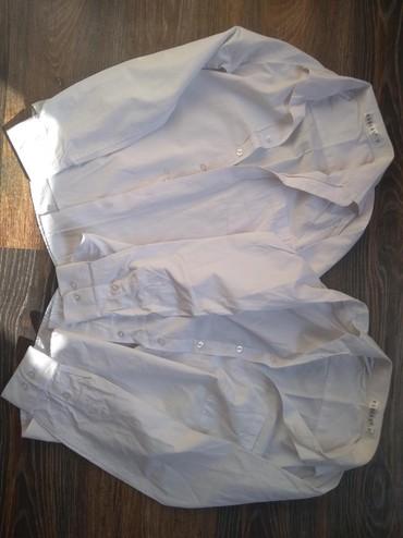 Школьные рубашки. 2шт. бу в отл сост. ростовка 146. по 150 сом