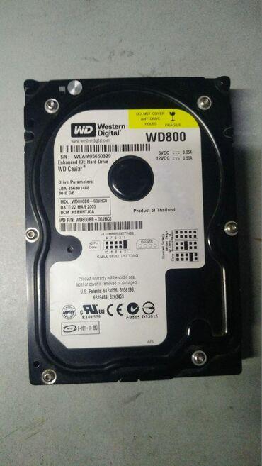 Жёсткий диск ata wd 80gb 300сом 3-дня на проверку
