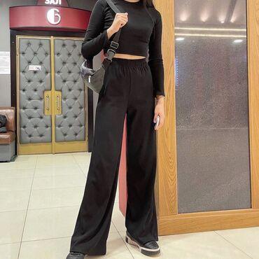 Новая двойка чёрная кофта и брюки, отличная посадка, удлиняет ноги