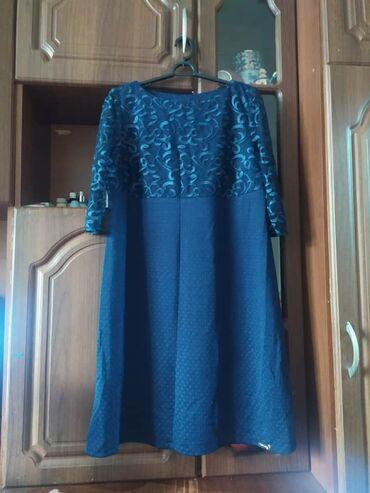 женское платье размер 46 48 в Кыргызстан: Женское платье 46-48 размер,новое,самопошив, качество хорошее,ниже