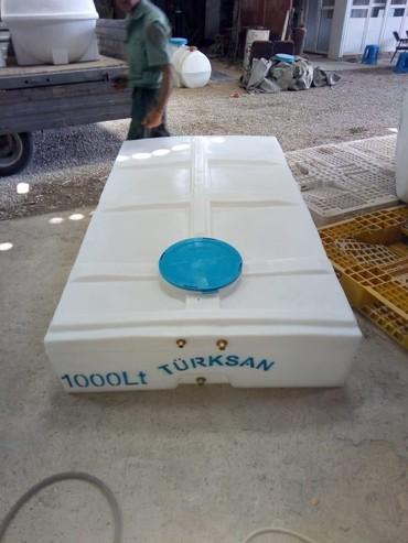 Türksan şirkətinin poletilendən hazırlanmış su çənləri. Kvadrat