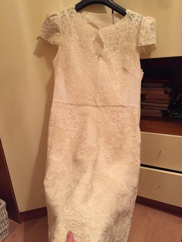 Гипюровое платье .38 размер.одевалось 2 раза. в Бишкек