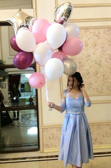цвет нежный платье цвет в Кыргызстан: Вечернее платье французской длины,нежно-голубого цвета из дорогого