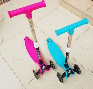 Oyuncaqlar - Xırdalan: Samakat skooter işıqları yanır uşaqın boyuna görə tənzimlənir teze mal