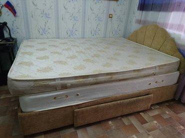 продается кровать + матрац ( фирма лина) размеры 1. 58 на 2. 15 в Бишкек