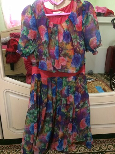 Платье шифон 3d,размер 48, состояние идеальное в Сокулук