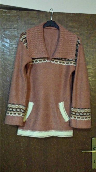 Jakna-luciano-placena-ustrucena-obukla-sa - Srbija: Ženska vunena tunika, ustrucena, jednom nošena, sa proširenim