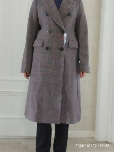 женская пальто в Кыргызстан: Стильное,теплое -70% шерсти,произ.Япония