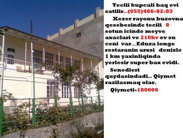 Bakı şəhərində Tecili kupcali baq evi satilir..        xezer rayonu buzovna