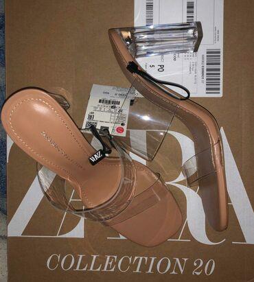 Papuce iz pariza - Srbija: Papuce na stiklu iz Zare,ni jednom nosene,ne odgovara broj