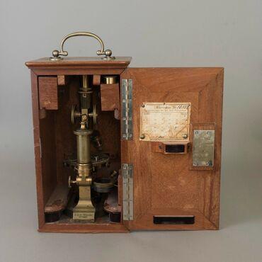 Продаю старинный микроскоп C. Reichert, Wien # 16025Медный микроскоп 5