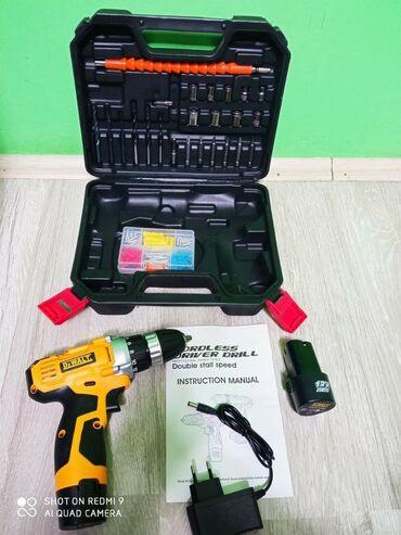 Aku šrafilica i Bušilica DeWALT 12v sa 2 baterije+AlatSamo 3.500