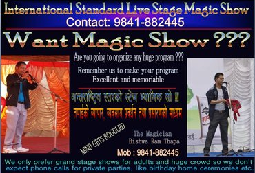 International Standard Live Stage Magic Show You have ever seen in Kathmandu
