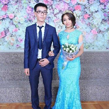 вязаное голубое платье в Кыргызстан: Продаю свое своё счастливое платье. Производство Турция.Размер- 38