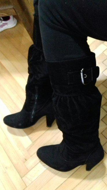 Prilikom - Srbija: Crne čizmice, sa štiklom od 9cm, broj 37. Nosene su malo, ali su u