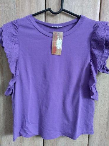 Trikotazna-pamuk - Srbija: Majica/tunika /bluza. Pamuk. Prelepa. Nova sa etiketom. Pamuk