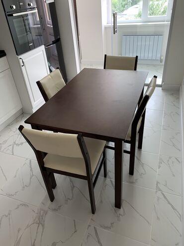 stol kuhannyj в Кыргызстан: Малазийский стол с 4 стульями, состояние новое, так как, хотим стол
