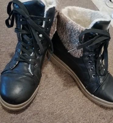 Ženske crne cipele, br. 38 Polovne, ali veoma malo nošene  - Obrenovac