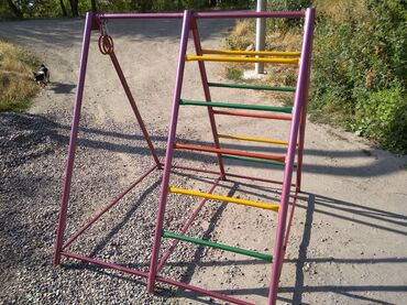 Детская шведская стенка + турник+ гимнастические кольца. Для подвижных