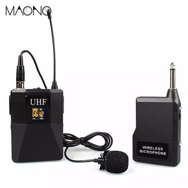 микрофон-за-телефон-цена в Кыргызстан: Беспроводной Петличный микрофон MAONO AU-703  цена 3000 сом  цум 4 эта