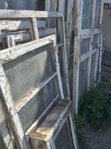 Окна большего дома. Окна в целые. Для дачи само-то. Отдам за 2500 сом