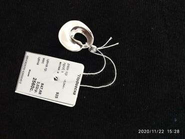 Серебряную колечку и сережку - Кыргызстан: Серебряный подвеска (Италия)проба 925 вес 3.02гр